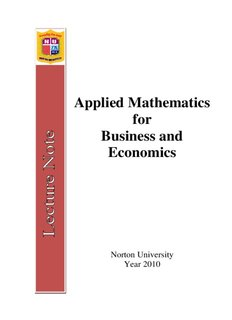 Applied Mathematics for Business and Economics