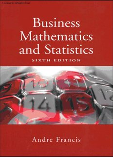 Business Mathematics and Statistics, Sixth Edition