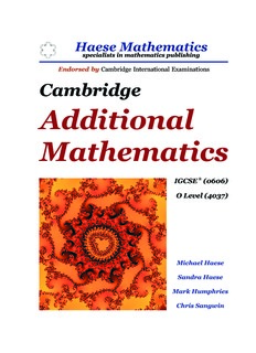 IGCSE Additional Mathematics Textbook