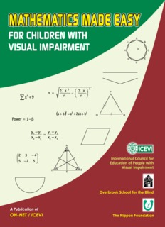Mathematics Made Easy for Children with Visual Impairment - ICEVI