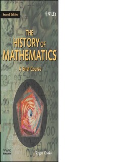 The History of Mathematics: A Brief Course